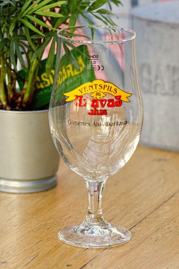 Užavas alus glāze